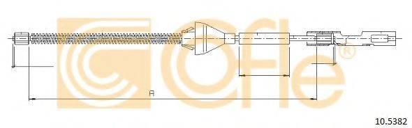 Трос, стояночная тормозная система COFLE 10.5382
