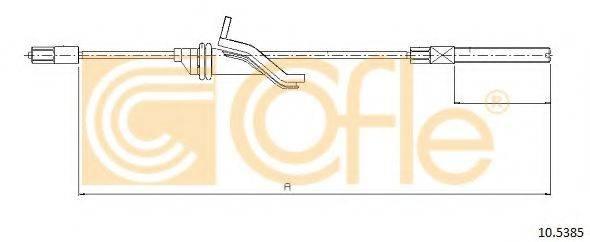 Трос, стояночная тормозная система COFLE 10.5385