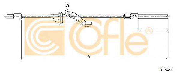 Трос, стояночная тормозная система COFLE 10.5451