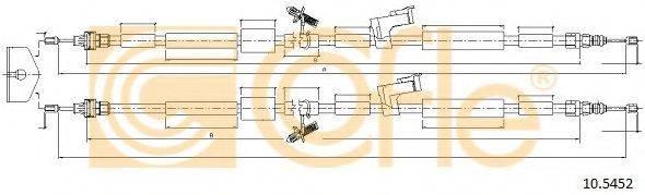 Трос, стояночная тормозная система COFLE 10.5452