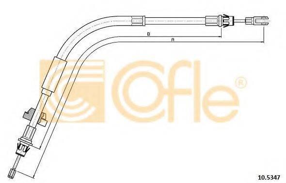 Трос, стояночная тормозная система COFLE 10.5347