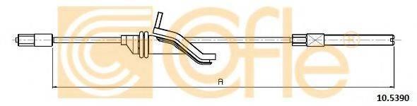 Трос, стояночная тормозная система COFLE 10.5390