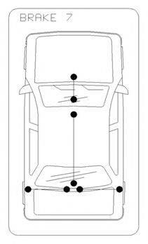 Трос, стояночная тормозная система COFLE 10.5348